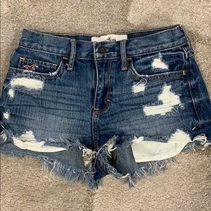 Hollister Mid Rise High Waist Denim Shorts